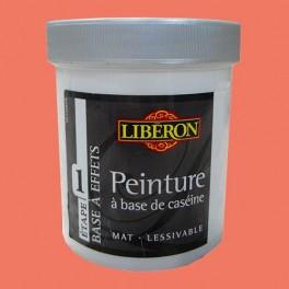 LIBÉRON Peinture à base de Caséine 0,5L Corail