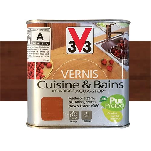 Vernis Plan De Travail Cuisine: V33 Vernis Cuisine Et Bains Teck De Java Satin Pas Cher En