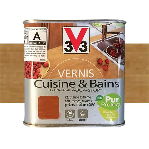 Vernis Plan De Travail Cuisine: V33 Vernis Cuisine Et Bains Chêne Doré Satin Pas Cher En Ligne