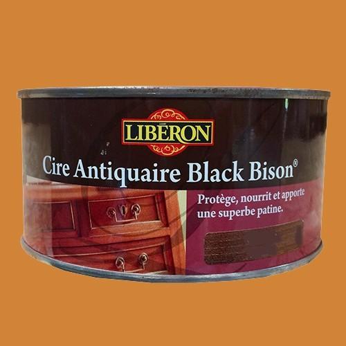 Lib ron cire antiquaire black bison 0 5l merisier clair for Produit liberon bois