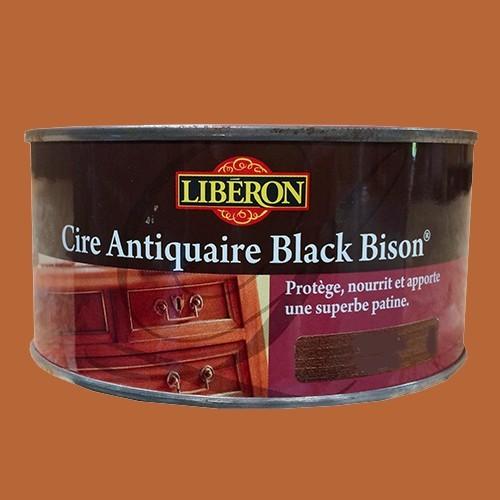 lib ron cire antiquaire black bison 0 5l acajou p te pas. Black Bedroom Furniture Sets. Home Design Ideas