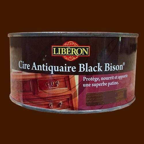lib ron cire antiquaire black bison 0 5l ch ne fum p te pas cher en ligne. Black Bedroom Furniture Sets. Home Design Ideas