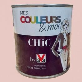 V33 mes couleurs et moi chic rose poudr satin velout pas cher en ligne - Couleur peinture rose poudre ...