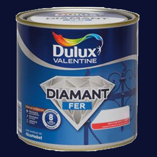 peinture dulux valentine diamant fer bleu marine brillant. Black Bedroom Furniture Sets. Home Design Ideas