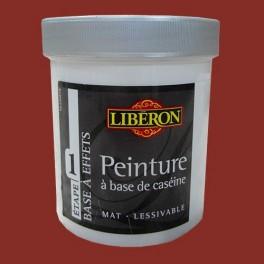 Lib ron peinture base de cas ine 0 5l rouge fatal pas - Peinture liberon caseine ...