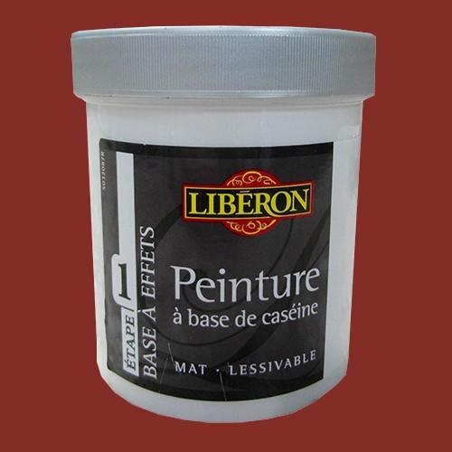 LIBÉRON Peinture à base de Caséine 0,5L Rouge Fatal