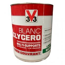 V33 Peinture Glycéro Blanc Satin Multi-supports