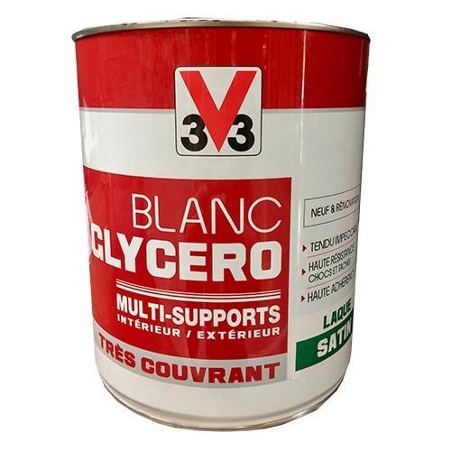 V33 peinture glyc ro blanc satin multi supports pas cher for Peinture blanc satin