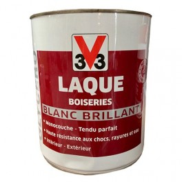V33 Laque Boiseries Blanc Brillant