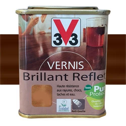 V33 vernis meubles et boiseries ch ne rustique brillant - Peinture pour meubles vernis ...