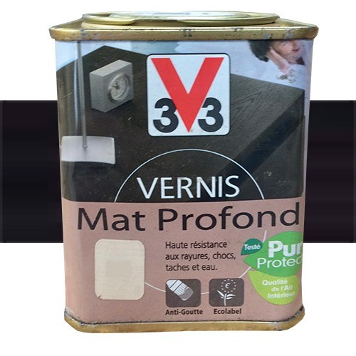 V33 vernis meubles et boiseries weng du za re mat profond - Peinture wenge pour meuble ...