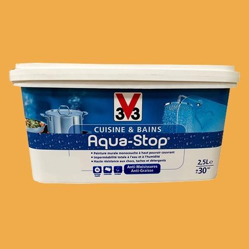 Peinture v33 cuisine et bains aqua stop soleil hawa en 2 for Peinture pas cher pour cuisine