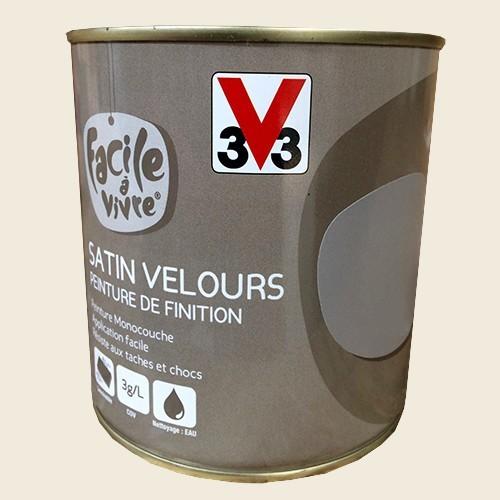 peinture murale et boiserie v33 facile vivre plume satin velours pas cher en ligne. Black Bedroom Furniture Sets. Home Design Ideas