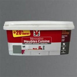 V33 Rénovation Meubles Cuisine (Bois vernis-Mélaminés-Stratifiés) Satin Inox