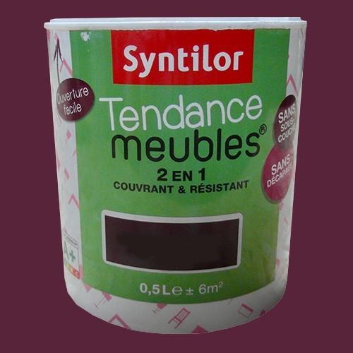 SYNTILOR Peinture Tendance Meubles Effet Pailleté Prune Piquante