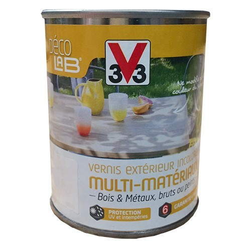 V33 vernis ext rieur multi mat riaux incolore mat 0 25l for Peinture exterieur pas cher