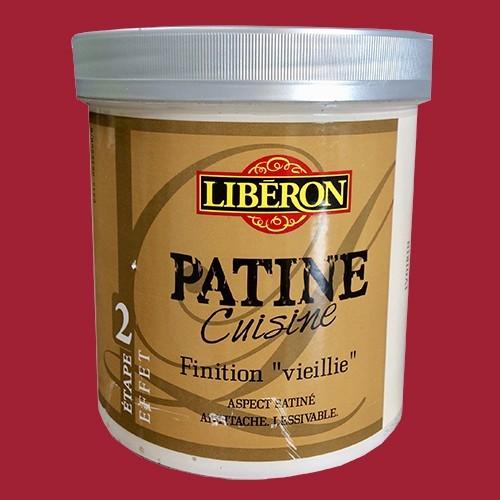 """LIBERON Patine Cuisine Finition """"Vieillie"""" (Etape 2) 1L Rouge cerise"""