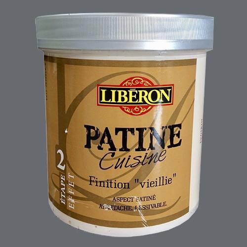 """LIBERON Patine Cuisine Finition """"Vieillie"""" (Etape 2) 1L Gris Zinc"""