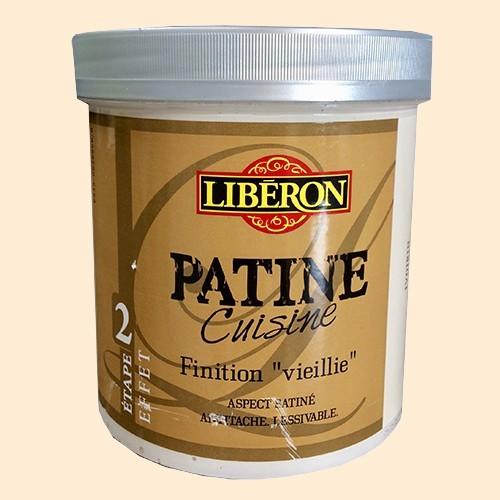 """LIBERON Patine Cuisine Finition """"Vieillie"""" (Etape 2) 1L Ivoirin"""