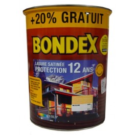 Lasure BONDEX Protection 12ans Aspect Satiné Chataignier 6L