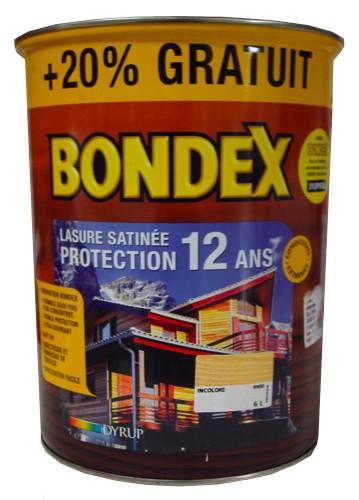 Lasure Bondex Protection Ans Aspect Satin Chataignier L Pas Cher