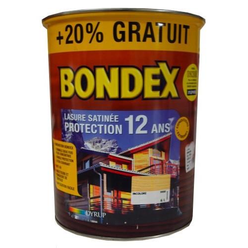 Bondex lasure protection 12ans aspect satin incolore 6l for Ou acheter du bois flotte pas cher