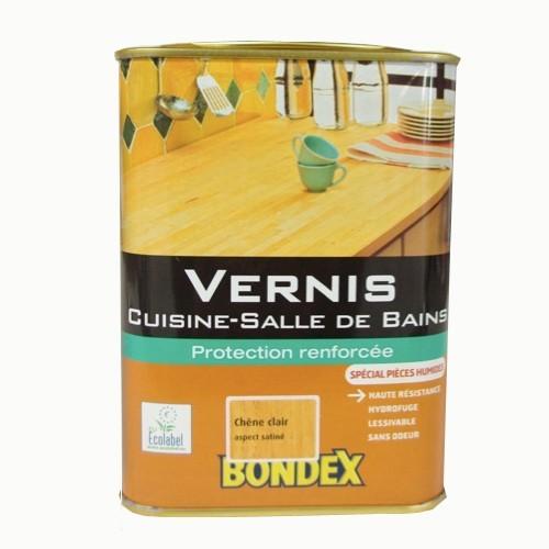 Bondex vernis cuisine et salle de bains ch ne clair 1l pas for Vernis bois cuisine