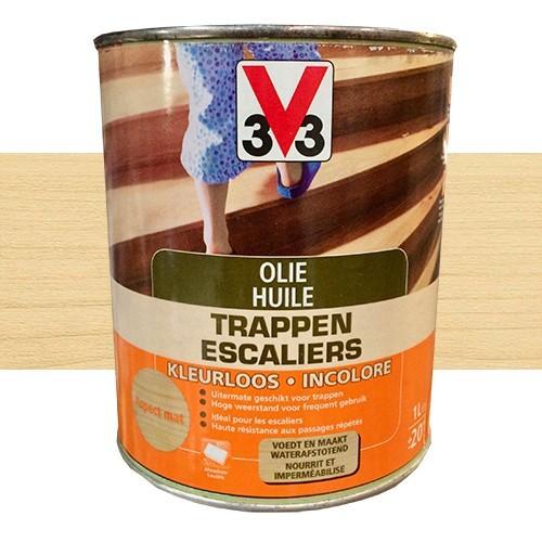 V33 huile escalier incolore pas cher en ligne for Peinture escalier bois v