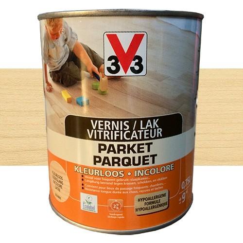 V33 vitrificateur parquet incolore mat pas cher en ligne for Peinture parquet bois