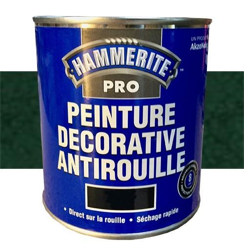 HAMMERITE Peinture Décorative Antirouille Vert Jardin Martelé
