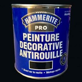 HAMMERITE Peinture Décorative Antirouille Noir Brillant