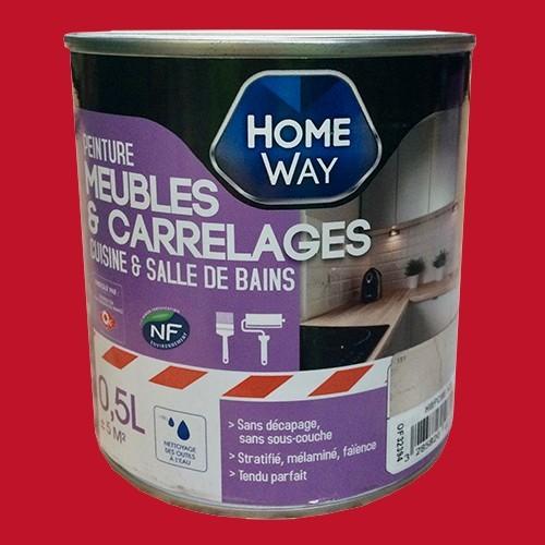 Oxi home way peinture meubles carrelages rouge italien - Peinture meuble pas cher ...