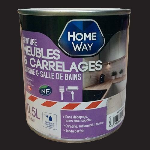 Oxi home way peinture meubles carrelages carbone pas cher en ligne - Protection bois salle de bain ...