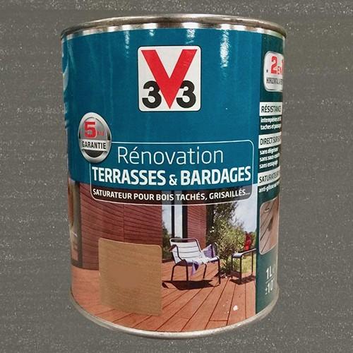 V33 r novation terrasse bardages bois gris mat pas cher for Renovation bardage bois exterieur