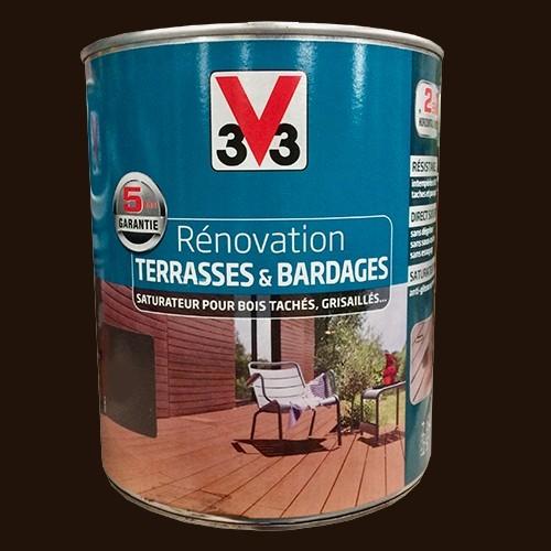 v33 r novation terrasse bardages bois ch ne carbone mat pas cher en ligne. Black Bedroom Furniture Sets. Home Design Ideas