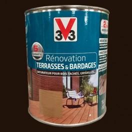 v33 r novation terrasse bardages bois ch ne carbone mat. Black Bedroom Furniture Sets. Home Design Ideas