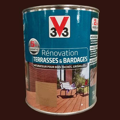 V33 r novation terrasse bardages bois okoum mat pas - Lasure pour terrasse bois ...