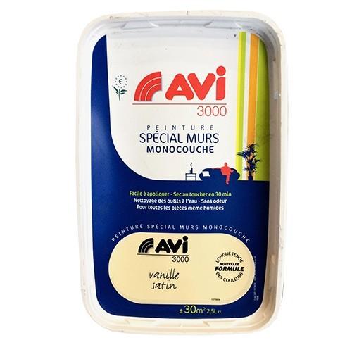 Avi peinture sp cial murs satin 2 5l vanille pas cher en ligne for Peinture special