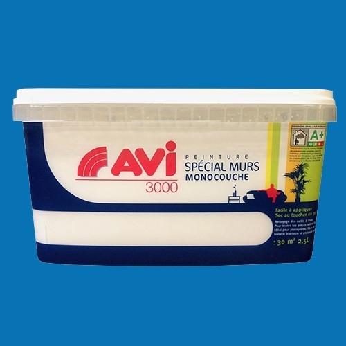 Avi peinture sp cial murs satin 2 5l bleu bora bora pas for Peinture special