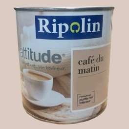 ripolin peinture attitude caf du matin satin caf au lait pas cher en ligne. Black Bedroom Furniture Sets. Home Design Ideas