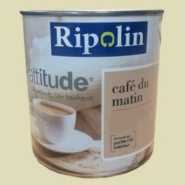 "RIPOLIN Peinture Attitude ""café du matin"" Satin Vert jaune"