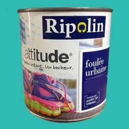 "RIPOLIN Peinture Attitude ""Foulée urbaine"" Satin Bleu Néon"