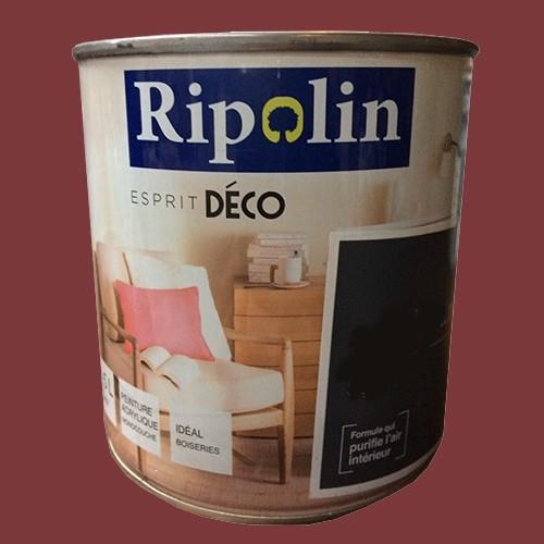 """RIPOLIN Peinture Acrylique """"Esprit Déco"""" Rouge piment satin"""