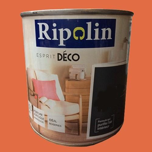"""RIPOLIN Peinture Acrylique """"Esprit Déco"""" Orange sanguine satin"""