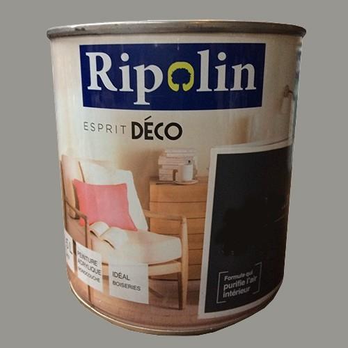 """RIPOLIN Peinture Acrylique """"Esprit Déco"""" Gris urbain satin"""