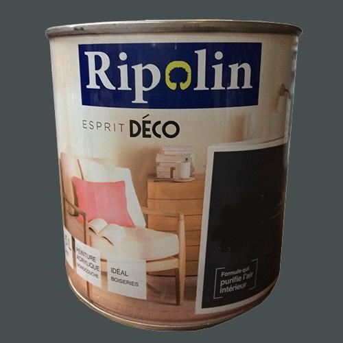 """RIPOLIN Peinture Acrylique """"Esprit Déco"""" Gris bitume satin"""