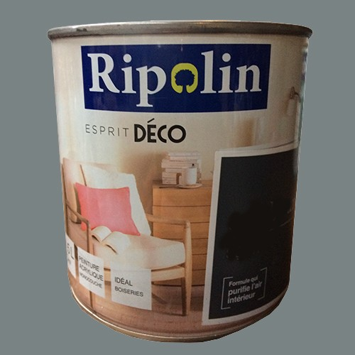 """Peinture Couleur Zinc ripolin peinture acrylique """"esprit déco"""" gris zinc satin pas cher en"""