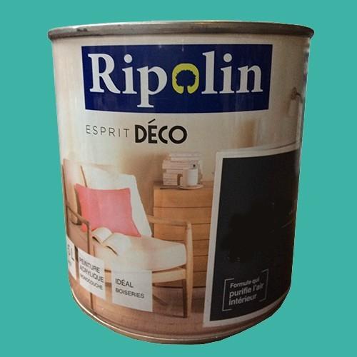 """RIPOLIN Peinture Acrylique """"Esprit Déco"""" Bleu neon satin"""