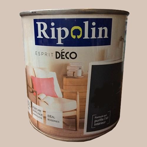 ripolin peinture acrylique esprit d co caf au lait satin pas cher en ligne. Black Bedroom Furniture Sets. Home Design Ideas