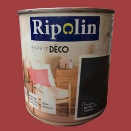 """RIPOLIN Peinture Acrylique """"Esprit Déco""""Rouge Electrique Brillant"""